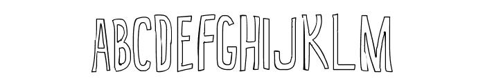 True 2D Outline Font UPPERCASE