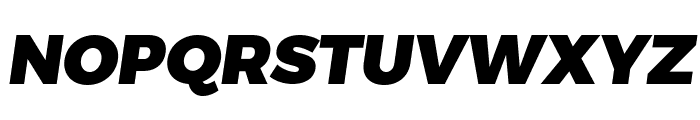 Trueno Black Italic Font UPPERCASE