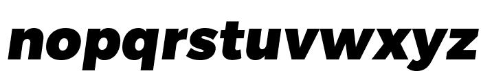 Trueno Black Italic Font LOWERCASE