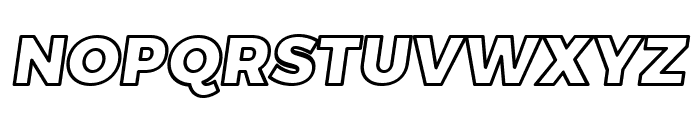 Trueno Black Outline Italic Font UPPERCASE