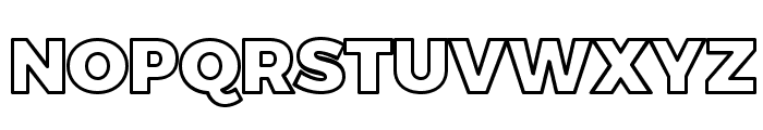 Trueno Black Outline Font UPPERCASE