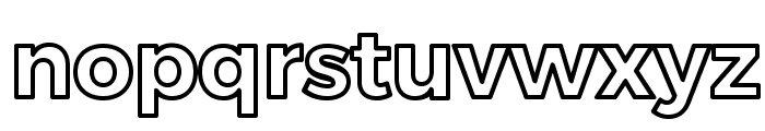 Trueno Bold Outline Font LOWERCASE