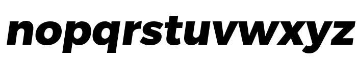 Trueno ExtraBold Italic Font LOWERCASE