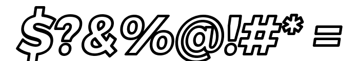 Trueno ExtraBold Outline Italic Font OTHER CHARS