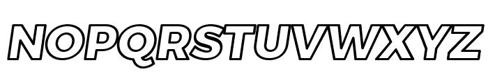Trueno ExtraBold Outline Italic Font UPPERCASE