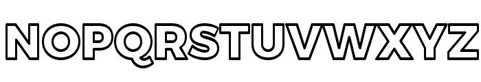 Trueno ExtraBold Outline Font UPPERCASE