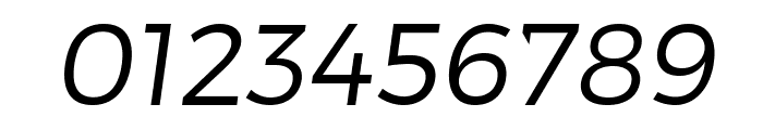 Trueno Light Italic Font OTHER CHARS