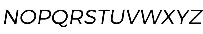 Trueno Light Italic Font UPPERCASE