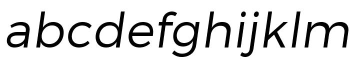 Trueno Light Italic Font LOWERCASE