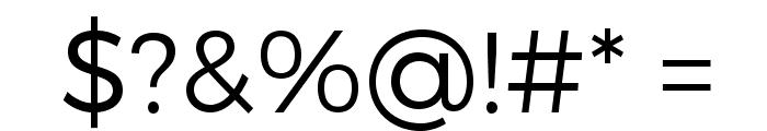 Trueno Light Font OTHER CHARS