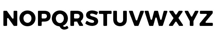 Trueno Round Bold Font UPPERCASE