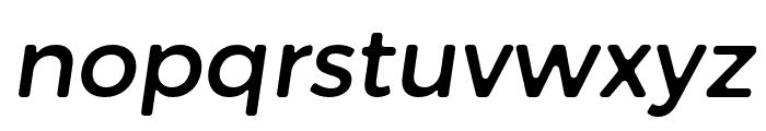 Trueno Round Italic Font LOWERCASE