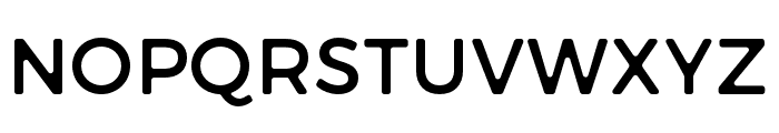 Trueno Round Font UPPERCASE