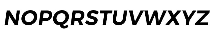 Trueno SemiBold Italic Font UPPERCASE