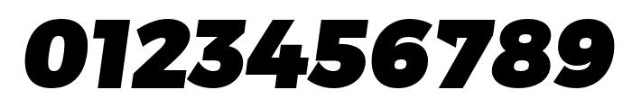 Trueno UltraBlack Italic Font OTHER CHARS