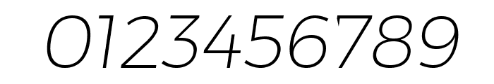 Trueno UltraLight Italic Font OTHER CHARS