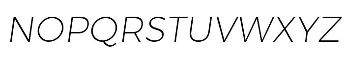 Trueno UltraLight Italic Font UPPERCASE