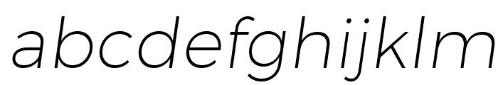 Trueno UltraLight Italic Font LOWERCASE