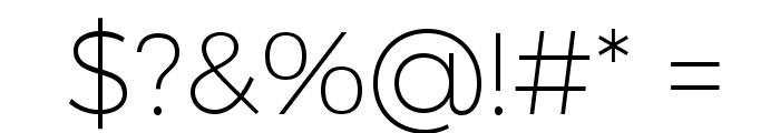 Trueno UltraLight Font OTHER CHARS