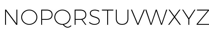 Trueno UltraLight Font UPPERCASE
