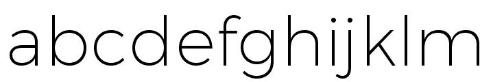 Trueno UltraLight Font LOWERCASE