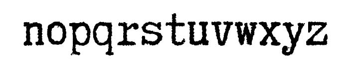 Truetypewriter PolyglOTT Font LOWERCASE