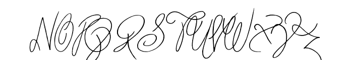 Truly Yours Font UPPERCASE
