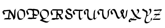 TrumanScript Font UPPERCASE