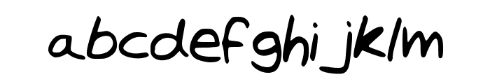 TrystansWritingCorrected Font LOWERCASE