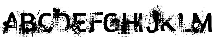 trashco Font UPPERCASE