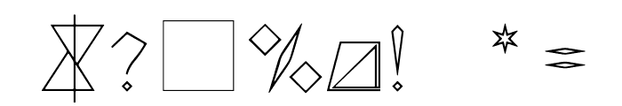 triangler by tim ko Font OTHER CHARS