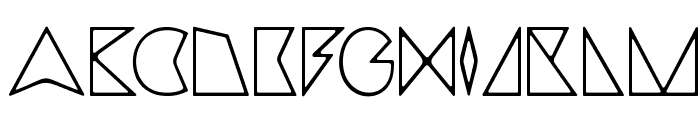 triangler by tim ko Font UPPERCASE