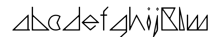triangler by tim ko Font LOWERCASE