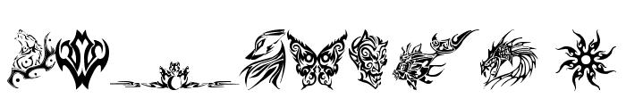 tribal tattoo font Font OTHER CHARS