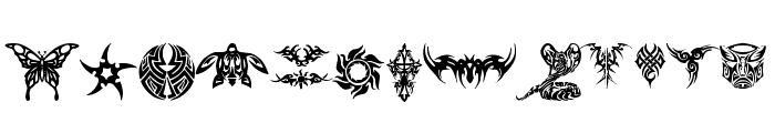 tribal tattoo font Font UPPERCASE