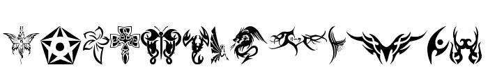 tribal tattoo font Font LOWERCASE