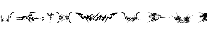 tribalz by marioz Font LOWERCASE