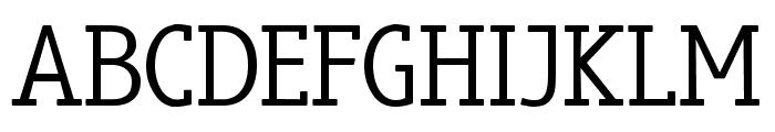 truebo serif Font UPPERCASE