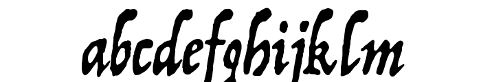 Trattatello Font LOWERCASE