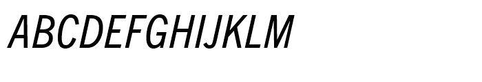 Trade Gothic Next Condensed Italic Font UPPERCASE