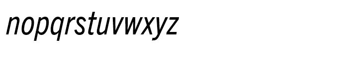 Trade Gothic Next Condensed Italic Font LOWERCASE
