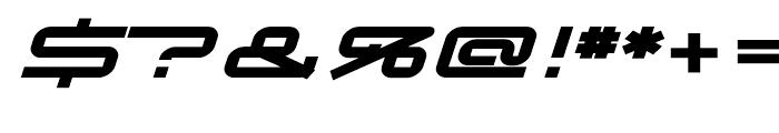 Transpond Bold Italic Font OTHER CHARS