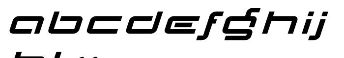 Transpond Bold Italic Font LOWERCASE