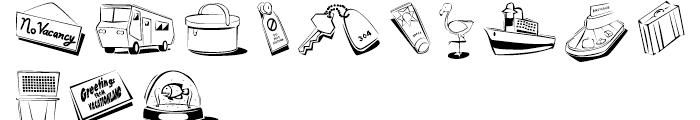 Traveler Ampersand Font LOWERCASE