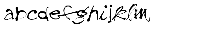 Treefrog Regular Font LOWERCASE