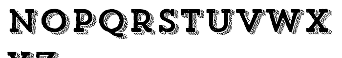 Trend Hand Made Slab Four Italic Font LOWERCASE