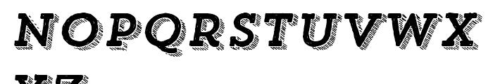 Trend Hand Made Slab Three Italic Font LOWERCASE
