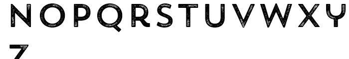 Trend Rough Sans One Font LOWERCASE