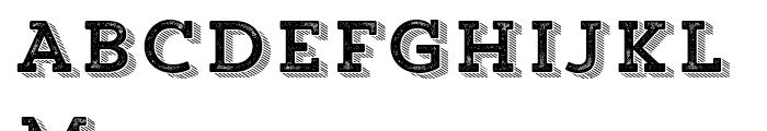 Trend Rough Slab Four Font UPPERCASE