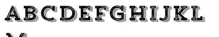 Trend Rough Slab Four Font LOWERCASE